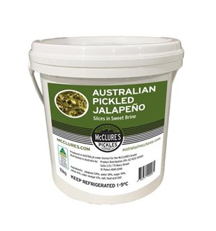 McClure's Pickled Jalapeño Slices in Sweet Brine -  10kg