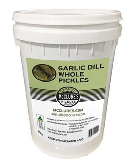 McClure's Garlic & Dill Whole Pickle - 20kg