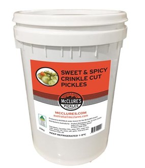 McClure's Sweet & Spicy Crinkle Cut Pickles - 20kg